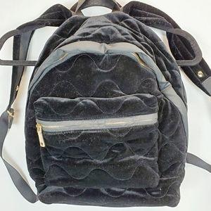 Sandro Paris  Black Velvet Backpack